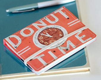 Upcycled Mini Journal- Donut Edition