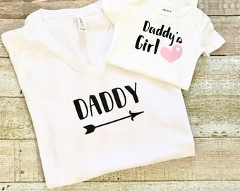 Father and Daughter Shirts - Dad and Daughter Tee, Dad and Baby Outfit, Dad and Me Tee, Father Daughter Shirt, Fathers Shirt, Daddys Girl