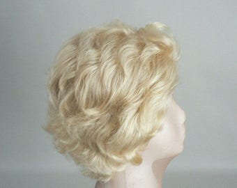 Womens Blond Short Curly Wig