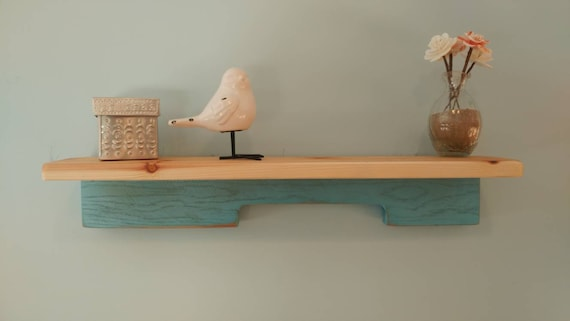 Wall shelf using pallet wood and cedar.