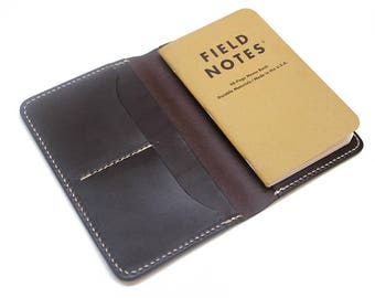 Field notes wallet, personalized field notes cover, field notes leather wallet, leather journal cover, notebook cover,