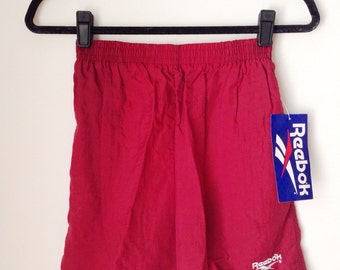 Deadstock Reebok Burgundy Athletic Shorts Boys Size XL