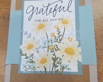 Grateful for All You Do, Floral Seed packet Card