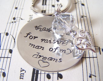 Personalized Mother of the Groom Gift, Hand Stamped Hypoallergenic Necklace for Mom, Wedding Favor, Cusom Wedding Gift