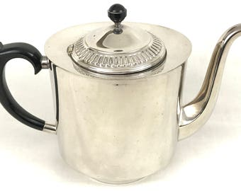Vintage Silver Plated Teapot, VINERS of Sheffield, Afternoon Tea, Tea Serving, Art Deco Teapot, Bakelite Handle and Finial, Unique Looking
