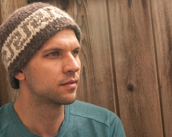 Cowichan Style Toque - Cowichan Style Beanie - Knitted Toque