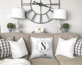 Family Pillow   Family Name Gifts   Personalized Family Pillow Cover   Housewarming Gift