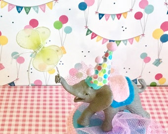 Pink/Blue Elephant/ Baby Shower/Cake Topper/Butterfly