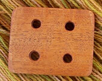 Handspinners Mahogany Plying Template