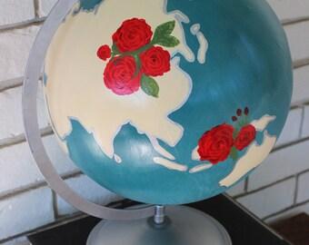 """Hand Painted 12"""" custom globe"""