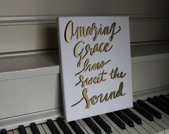 Amazing Grace- Hand-painted Canvas