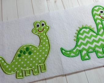 Applique Dinosaur machine embroidery instant download design, Set of 2 embroidery appliqué dinosaur