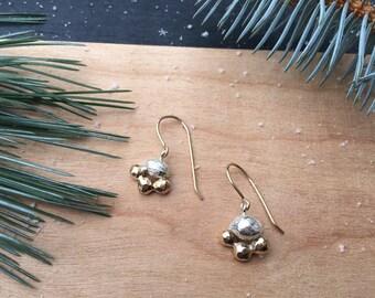 Two-Toned, Three Berries Earrings
