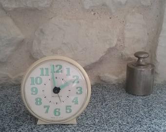 White WESTCLOX - alarm clock vintage alarm clock made glow in the USA - retro alarm