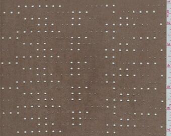 Mocha Laser Cut Microsuede Knit, Fabric By The Yard