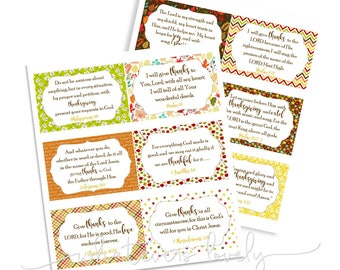 Gratitude Bible Verse Printable Cards