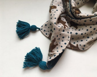 Bear Tassel Kids Scarf