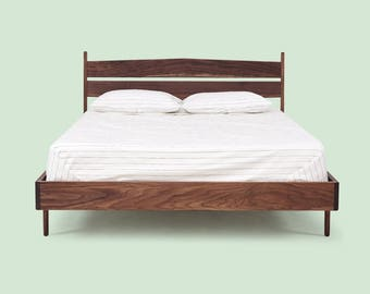 Solid Wood Bed Frame - Walnut