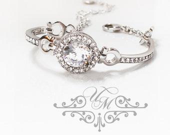10% OFF Wedding Jewelry Wedding Bracelet AAA Cubic Zirconia Bracelet Bridal Bracelet Bridesmaids Bracelet Rhinestone Bracelet - MACEY