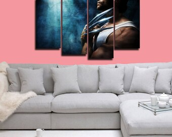 Wolverine Poster Wolverine Canvas X-Men Print Wall Decor Wall Art Large Print Multi Panel Home Decoration Birthday gift Canvas art
