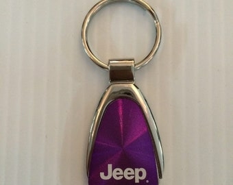 Jeep Grill Keychain & Keyring Jeep Teardrop - Purple