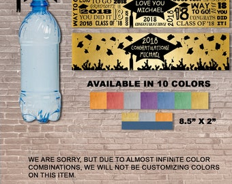 2018 Graduation Water Bottle Label / Instant Download & Editable / Party / school / diploma / student / custom / Personalized / PRINTABLE
