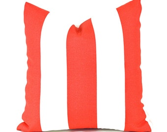 Outdoor Pillows Outdoor Pillow Covers Decorative Pillows ANY SIZE Pillow Cover Premier Prints Outdoor Vertical Coral