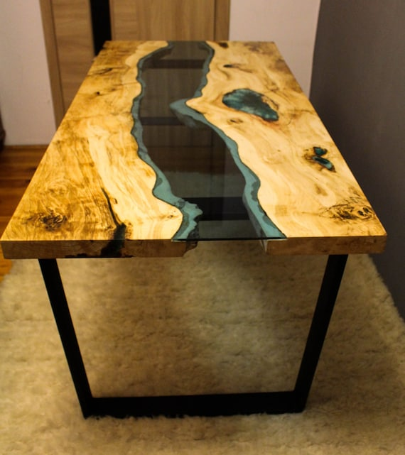 sold live edge river table with with blue epoxy sold. Black Bedroom Furniture Sets. Home Design Ideas