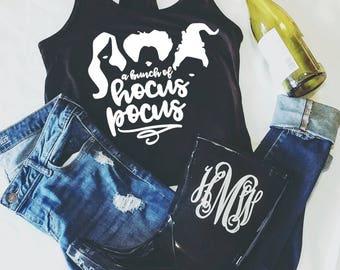 Hocus Pocus Tank Top, Winifred, Sarah, Mary, Thackery Binx, Halloween Shirt, Sanderson Sisters