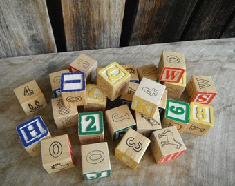 Collection of Vintage Wooden Blocks