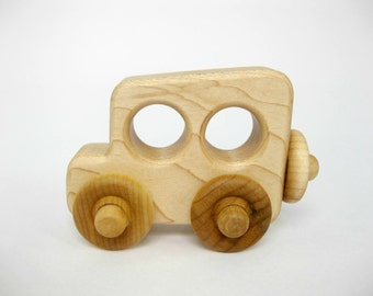Wood Toy Antique Old Time Car, little wooden toy