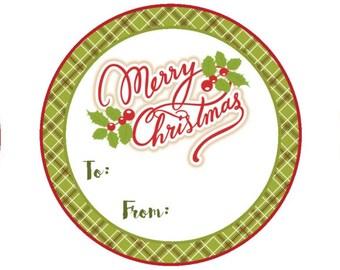Christmas gift tag, christmas gift stickers - holiday gift tag, holiday tag, merry christmas tag, merry christmas sticker, gift sticker, tag