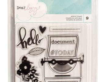 Dear Lizzy Documentary Clear Stamps   -- MSRP 6.00