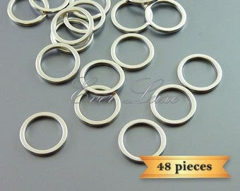 48 plain 10mm circle pendants, modern round connectors, hoop pendants 997-MR-10 (48 pieces)