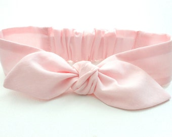 Baby headband, infant headband, soft pink