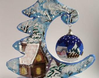 Christmas ornaments Christmas balls crochet Christmas gift tree toy Winter Holiday decor New year gifts Christmas decor Christmas tree ball