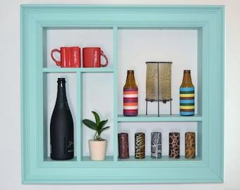 Frame rack pastel blue