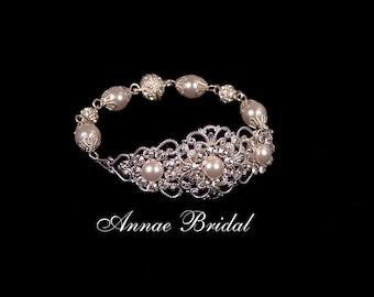 """bridal bracelet, """"Princess Charming"""" bracelet in ivory"""