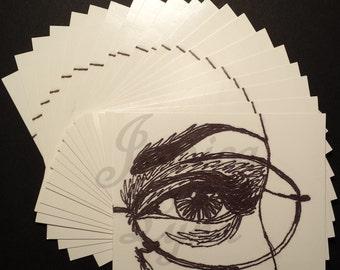 20-Pack of Eye No. 3 Glossy Standard Postcards