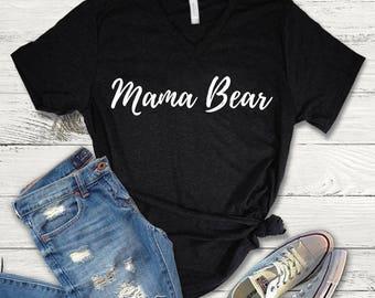 Mama Bear Tee Shirt, Mama Bear V-Neck, Mama Bear