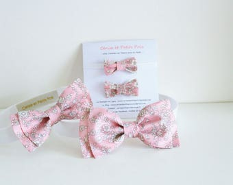 Bows box Ceremony in Liberty Summer Blooms Pink - ON ORDER