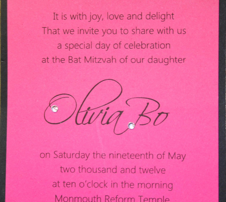 Bat mitzvah invitation or bar mitzvah invitation sweet 16 zoom stopboris Images