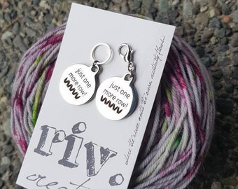 Bulky Knitting Stitch Marker | Removable Knitting Progress Marker | Crochet Stitch Marker | riv.creative Exclusive | Just One More Row!