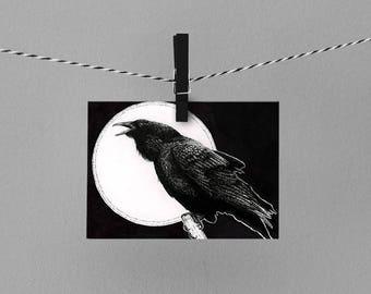 """Raven 8x10"""" drawing ART PRINT"""