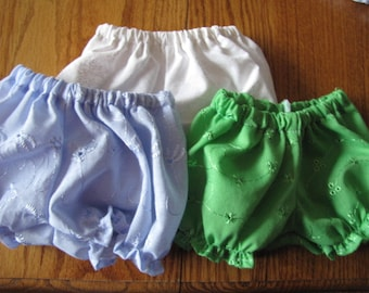 Eyelet Panties for Bitty Baby  NEW COLORS