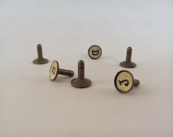 Typewriter Key Cell Phone Dust Plug