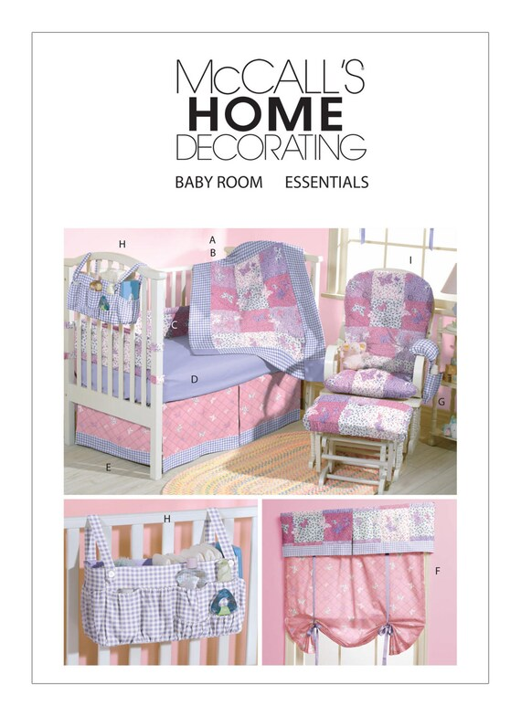 Sewing Pattern for Baby\'s Nursery, McCall\'s 4855, Baby Room ...
