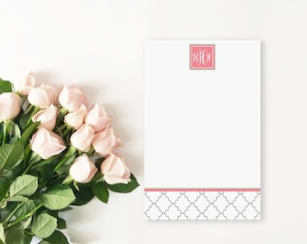 Bridesmaid Gift, Personalized Notepad, Monogram Stationery, Monogrammed Notepads, Personalized Stationery, Personalized Gift, Teacher Gift