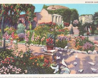 San Juan Capistrano, California, Campanario, Statue of Father Serra, Mission - Vintage Postcard - Postcard - Unused (JJ)