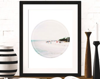 "Instant Download Art Print Beach Photography Collage Print Wall Art Decor - Hot Summer Sand Dunes Ocean Sea Geometric Circle  8"" by 10"""